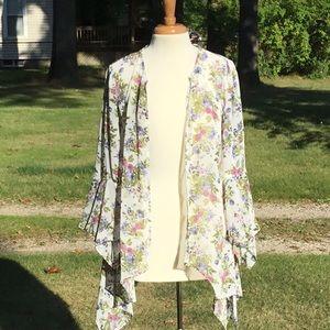 Floral Tunic Length Kimono